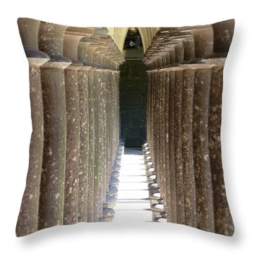 Columns Throw Pillow by Christine Huwer