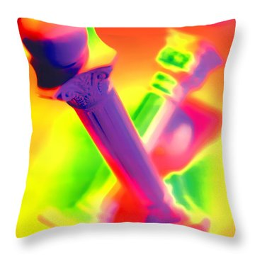 Columns  Throw Pillow by Mauro Celotti