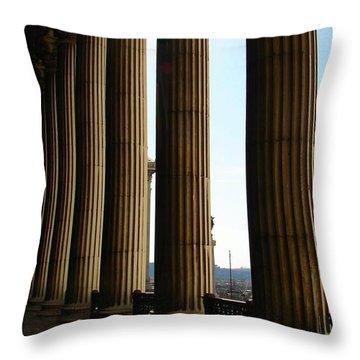 Columns Throw Pillow by Patrick Witz