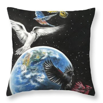 Come Together Throw Pillow by Carla Carson