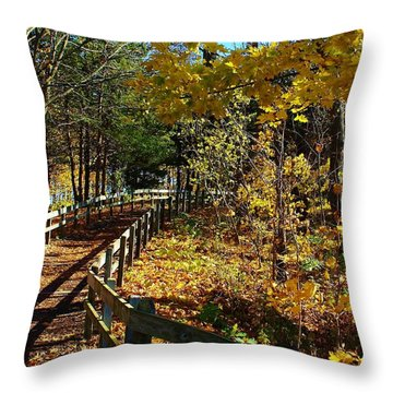 Come Walk With Me Throw Pillow by Bruce Bley