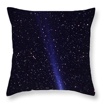 Comet Hyakutake Throw Pillow by Jerry Schad and Photo Researchers