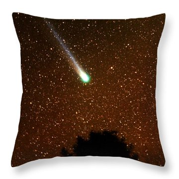 Comet Hyakutake Throw Pillow by Rick Frost