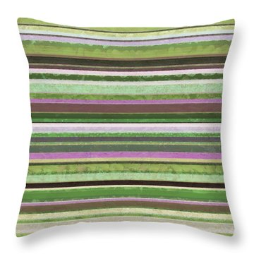 Comfortable Stripes Lv Throw Pillow by Michelle Calkins