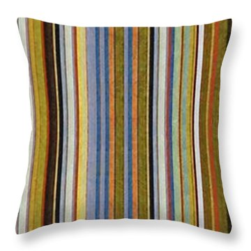 Comfortable Stripes Vlll Throw Pillow by Michelle Calkins
