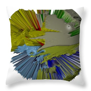 Comic Book Convention Throw Pillow by Robert Margetts