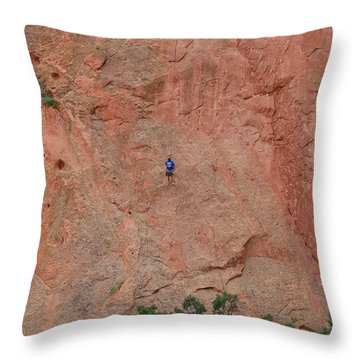 Coming Down The Mountain Throw Pillow