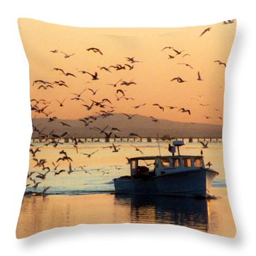 Coming Home With Take Out Throw Pillow by Michelle Wiarda
