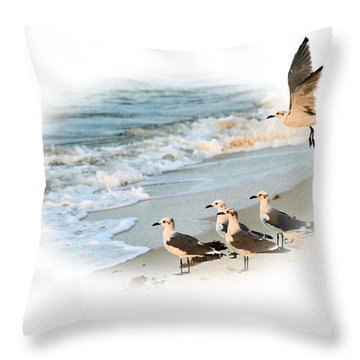 Coming In For A Landing Throw Pillow by Kristin Elmquist