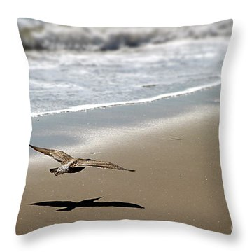 Coming In For Landing Throw Pillow by Henrik Lehnerer