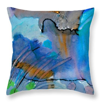 Coming Into Being II Throw Pillow