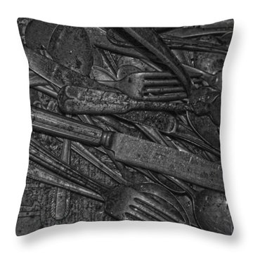 Common Cutlery  Throw Pillow by Empty Wall