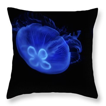 Common Moon Jelly Throw Pillow