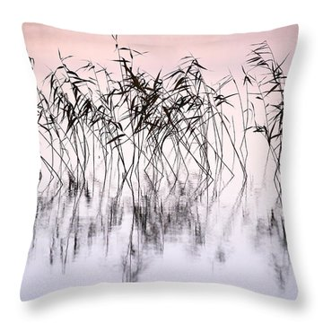 Common Reeds Throw Pillow by Jouko Lehto