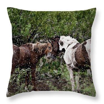 Companionship Throw Pillow by Dinah Anaya