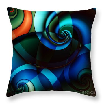 Complex Conversations In Society II Throw Pillow by Clayton Bruster