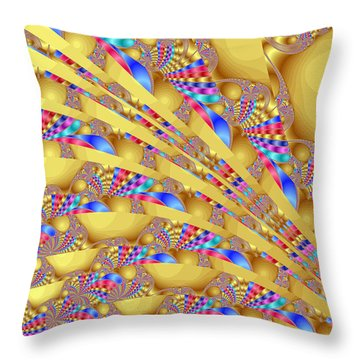 Complex Garden 2 Throw Pillow