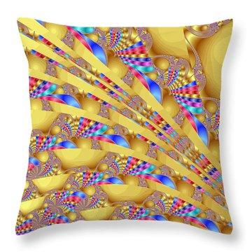 Complex Garden 2 Throw Pillow by Mark Greenberg