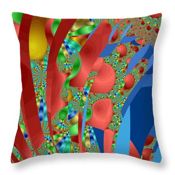 Complex Garden Throw Pillow