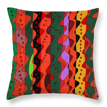 Complications Throw Pillow by Susan  Epps Oliver