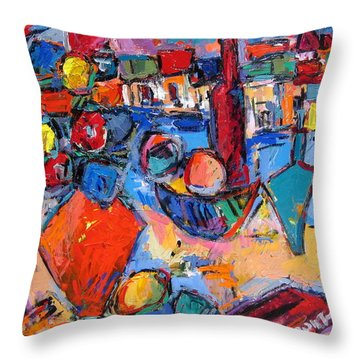 Composition With Italy Throw Pillow