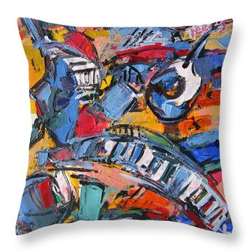 Composition With Music Throw Pillow