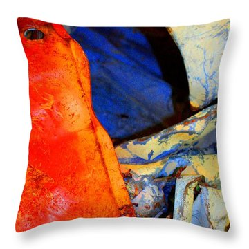 Compressed Throw Pillow by Marcia Lee Jones