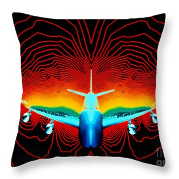 Computer Simulation Of Airplane Flight Throw Pillow by Nasa