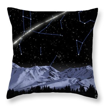 Concept Of A Newly Discovered Stream Throw Pillow
