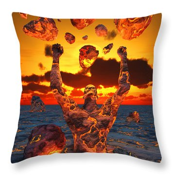 Conceptual Image Based On The Biblical Throw Pillow by Mark Stevenson