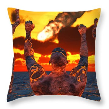 Conceptual Image Based On The Myths Throw Pillow by Mark Stevenson