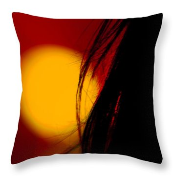 Concert Silhouette Throw Pillow by Tom Gort