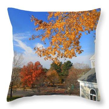 Concord Massachusetts In Autumn Throw Pillow by John Burk