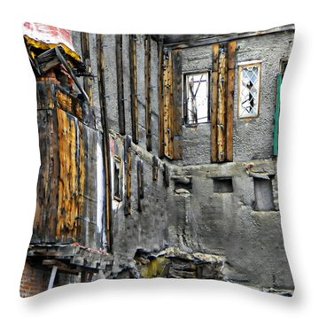 Condemned Throw Pillow by Michelle Frizzell-Thompson