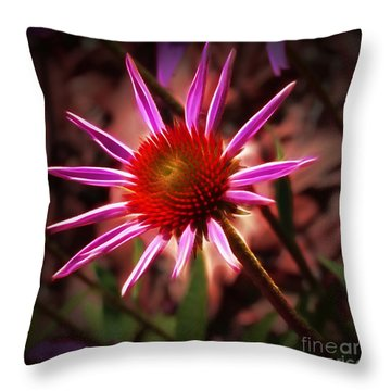 Coneflower 3 Throw Pillow by Judi Bagwell