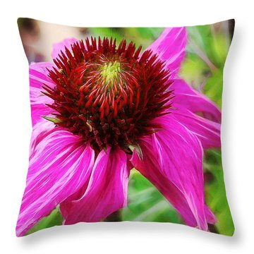 Throw Pillow featuring the photograph Coneflower by Judi Bagwell