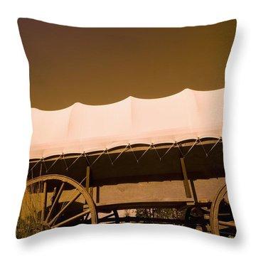 Conestoga Wagon Throw Pillow by Darren Greenwood