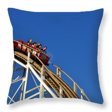 Coney Island Cyclone Throw Pillow by Diane Lent