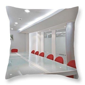 Conference Room Throw Pillow by Setsiri Silapasuwanchai
