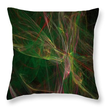 Throw Pillow featuring the digital art Confusion by Ester  Rogers