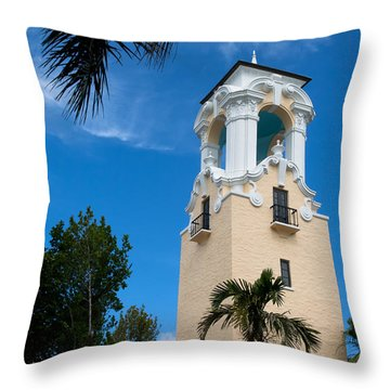 Throw Pillow featuring the photograph Congregational Church Of Coral Gables by Ed Gleichman