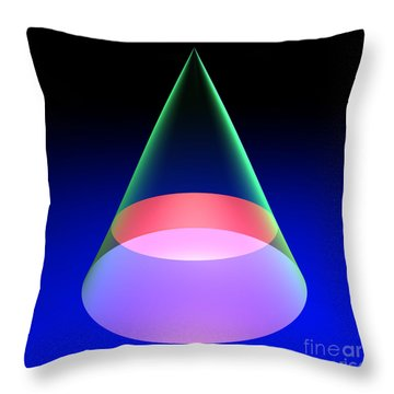 Conic Section Circle 6 Throw Pillow
