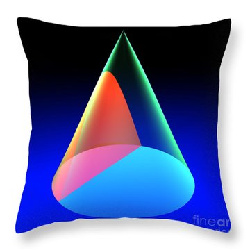 Conic Section Hyperbola 6 Throw Pillow