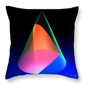 Conic Section Parabola 6 Throw Pillow