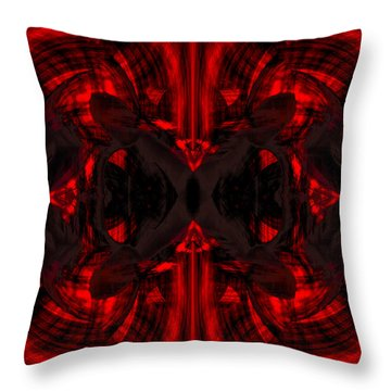 Conjoint - Crimson Throw Pillow by Christopher Gaston