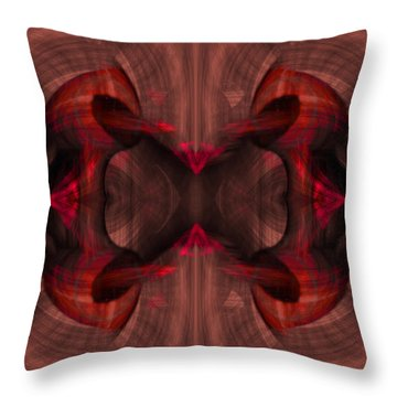 Conjoint - Ruby Throw Pillow by Christopher Gaston