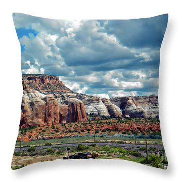 Connecting Cliffs Throw Pillow