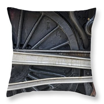 Connecting Rods Of Sir Nigel Gresley Throw Pillow by John Short