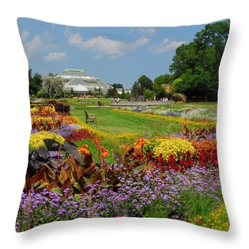 Throw Pillow featuring the photograph Conservatory Gardens by Lynn Bauer