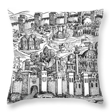 Constantinople, 1493 Throw Pillow by Photo Researchers